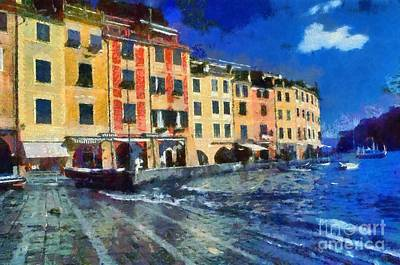 Portofino In Italy Print by George Atsametakis