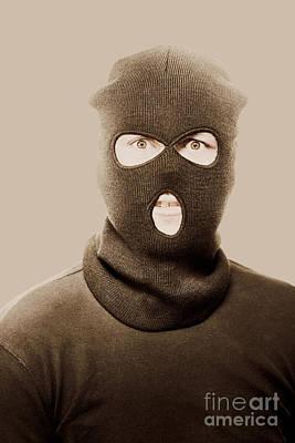 Portrait Of A Vintage Terrorist Print by Jorgo Photography - Wall Art Gallery
