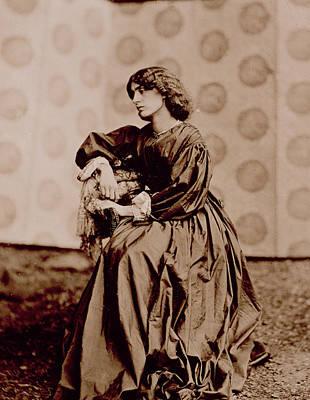 Contemplating Photograph - Portrait Of Jane Morris by John Parsons