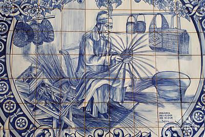 Ceramics Photograph - Portuguese Azulejo Tiles by Gaspar Avila