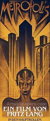 Poster From The Film Metropolis 1927 Print by Anonymous
