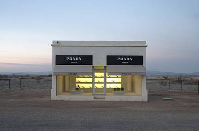 Illuminated Photograph - Prada Marfa by Greg Larson