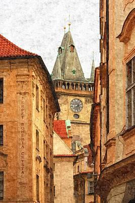 Prague Digital Art - Prague - Old Town by Ludek Sagi Lukac