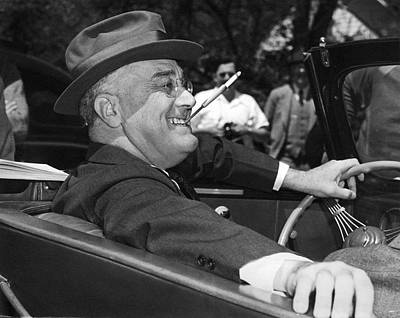 Holders Photograph - President Franklin Roosevelt by Underwood Archives