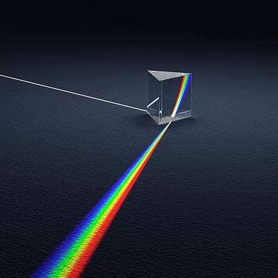 Prism Dispersing Light Into Spectrum Print by David Parker