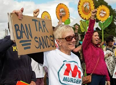 Petroleum Photograph - Protest Against Tar Sands by Jim West