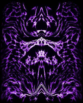 Abstract Digital Painting - Purple Series 1 by J D Owen