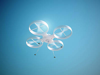 Helicopter Photograph - Quadcopter Drone by Andrzej Wojcicki