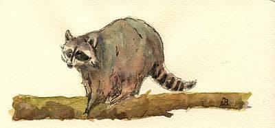 Raccoon Painting - Raccoon by Juan  Bosco