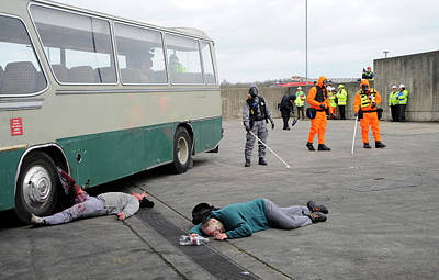 Terrorist Photograph - Radiation Emergency Response Training by Public Health England