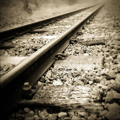 Railway Photograph - Railway Tracks by Les Cunliffe