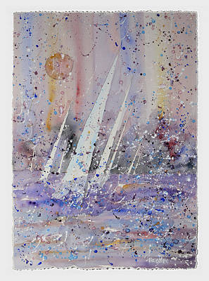Sunsert Painting - Raining Color by Peter Freischlag