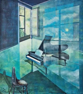 Fenster Painting - Raumirritation 19 by Gertrude Scheffler