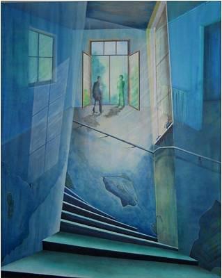 Treppenhaus Painting - Raumirritation 24 by Gertrude Scheffler
