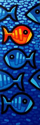 Tropical Fish Painting - Rebel Fish II by John  Nolan
