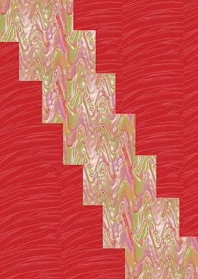 Champion Painting - Red Silken Base Cross Through Art Decoration by Navin Joshi
