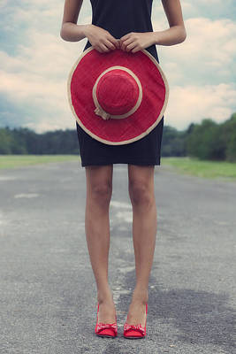 50s Photograph - Red Sun Hat by Joana Kruse