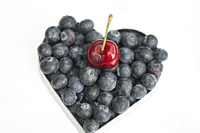Heart Healthy Photograph - Red White And Blue by Juli Scalzi