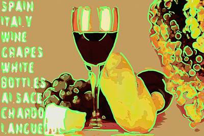 Red Wine With Cheese  Original by Toppart Sweden