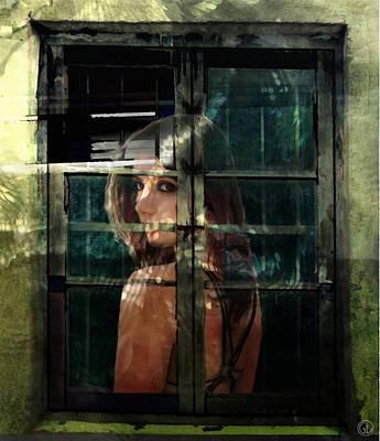 Glass Wall Digital Art - Reflections by Gun Legler