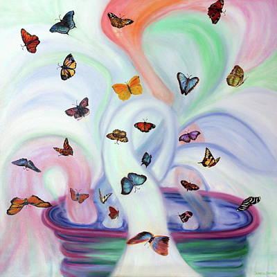 Releasing Butterflies Original by Jeanette Sthamann