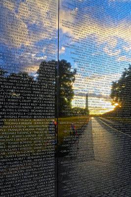 Vietnam War Memorial Photograph - Remember by Mitch Cat