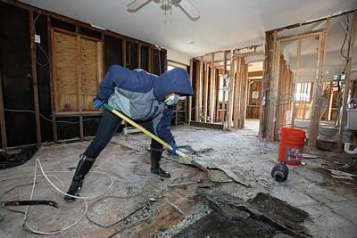 Hurricane Sandy Photograph - Repairing Hurricane Sandy Damage by Jim West