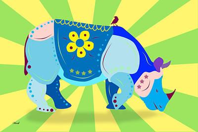 Rhino Print by Mark Ashkenazi