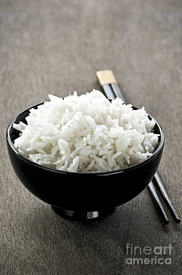 Tableware Photograph - Rice by Elena Elisseeva