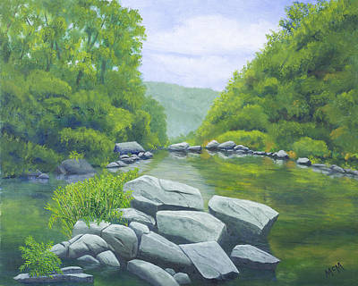 Buffalo River Painting - Richland Creek by Garry McMichael