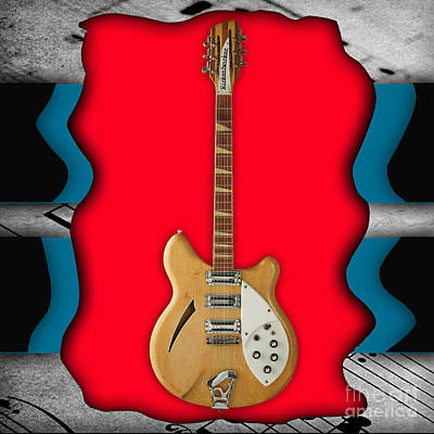 Music Mixed Media - Rickenbacker Guitar Collection by Marvin Blaine