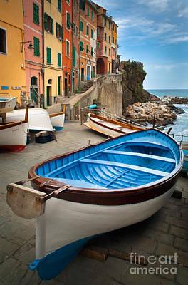 Liguria Photograph - Rio Maggiore Boat by Inge Johnsson