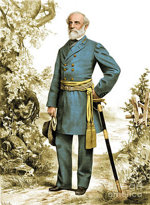 The General Lee Photograph - Robert E. Lee, Confederate Army by Photo Researchers