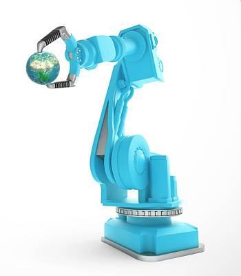 Machinery Photograph - Robotic Equipment by Andrzej Wojcicki