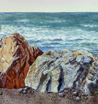 By Irina Painting - Rocks by Irina Sztukowski