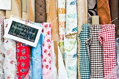 Designers Choice Photograph - Rolls Of Fabric  by Tom Gowanlock