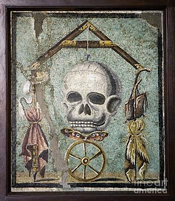 Roman Memento Mori Mosaic Print by Sheila Terry