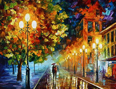 Town Painting - Romantic Aura  by Leonid Afremov