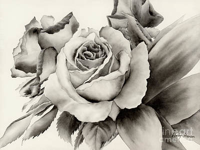 Rose Bouquet Print by Hailey E Herrera