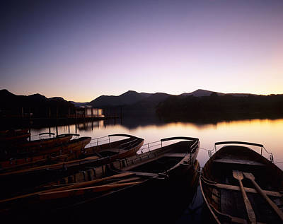 Rowboats On Derwentwater, Lake District Print by Panoramic Images