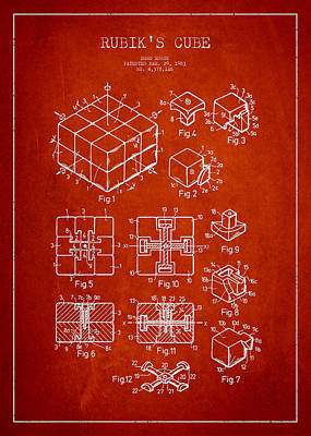 Toys Digital Art - Rubiks Cube Patent by Aged Pixel