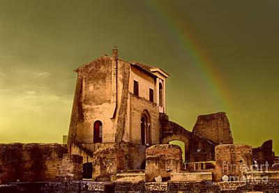Roman Ruins Photograph - Ruin At Palatine Hill by Julian Cook