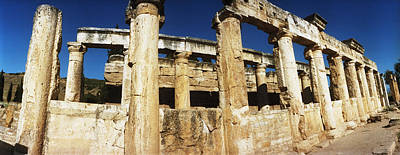 Ancient Civilization Photograph - Ruins Of The Roman Town Of Hierapolis by Panoramic Images