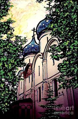 Russian Church Print by Sarah Loft