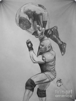 Justin Moore Drawing - Ryback by Justin Moore