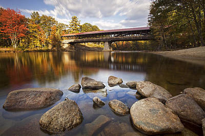 Saco River Bridge Print by Eric Gendron