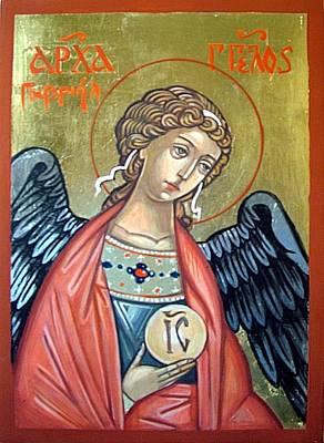 Saint Gabriel Print by Filip Mihail