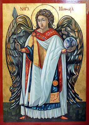 Egg Tempera Painting - Saint Michael by Filip Mihail