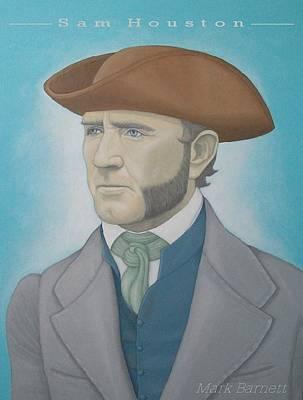 Sam Houston Painting - Sam Houston by Mark Barnett