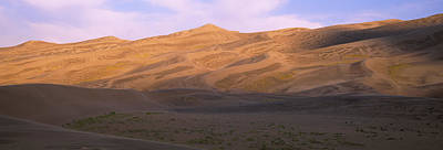 Great Sand Dunes National Park Photograph - Sand Dunes In A Desert, Great Sand by Panoramic Images